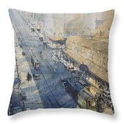Sydney, George St. In 1930 Throw Pillow