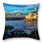 Sydney Harbor And Opera House Throw Pillow