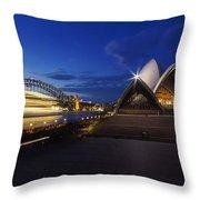 Sydney Opera House At Night Throw Pillow