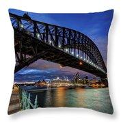 Sydney Harbor Bridge Throw Pillow