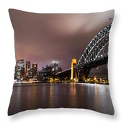Sydney Harbor Throw Pillow
