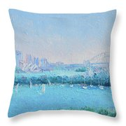 Sydney Harbour And The Opera House Throw Pillow