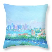 Sydney Harbour Impression Throw Pillow