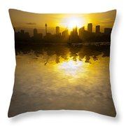Sydney Harbour Sunset Abstract Throw Pillow