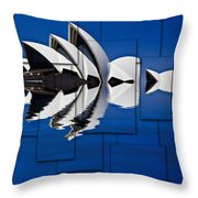 Sydney Opera House Collage Throw Pillow