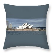 Sydney Opera House Panorama Throw Pillow