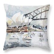 Sydney Opera  Throw Pillow