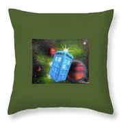 Syfy- Tardis 3 Throw Pillow