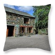 Syke Farm Tea Room Throw Pillow