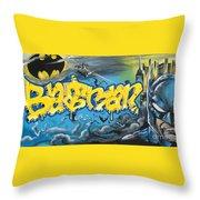 Sykotik And Pystoff Batman Throw Pillow