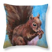 Sylas Saves For Winter Throw Pillow