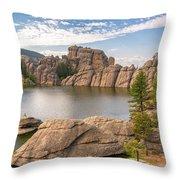 Sylvan Lake View Throw Pillow