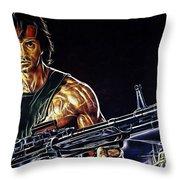 Sylvester Stallone Collection Throw Pillow