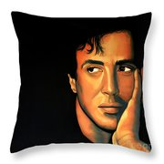 Sylvester Stallone Throw Pillow by Paul Meijering
