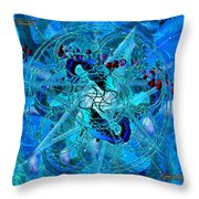 Symagery 34 Throw Pillow by Kenneth Johnson