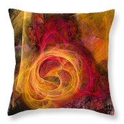 Symbiosis Abstract Art Throw Pillow