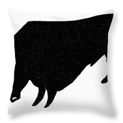 Symbol: Bull Throw Pillow