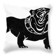 Symbol: Bulldog Throw Pillow