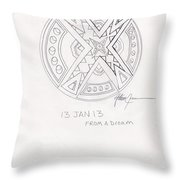 Symbol Finished Throw Pillow