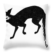 Symbol: Fox Throw Pillow
