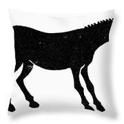 Symbol: Mule Throw Pillow