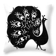 Symbol: Peacock Throw Pillow
