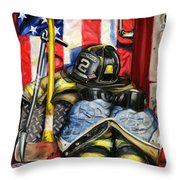 Symbols Of Heroism Throw Pillow