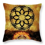 Symbols Of The Occult Throw Pillow
