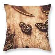 Symbols Of Zen Throw Pillow