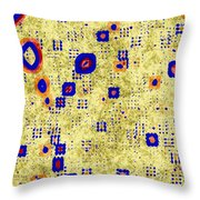 Symbols On A Wall Throw Pillow