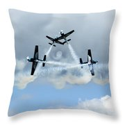 Symetry Of Flight Throw Pillow by Angel  Tarantella