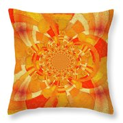 Symmetrical Abstract In Orange Throw Pillow