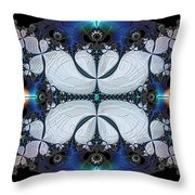 Symmetry In Circuitry Throw Pillow