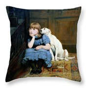 Sympathy Throw Pillow by Briton Riviere