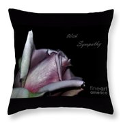 Sympathy Card With A Rose Throw Pillow