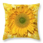 Symphony In Yellow Throw Pillow