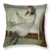 Symphony In White Throw Pillow
