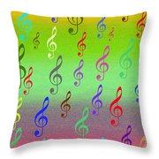 Symphony Of Colors Throw Pillow