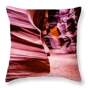 Antelope Canyon Light Throw Pillow