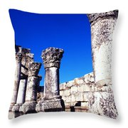Synagogue Columns  Throw Pillow