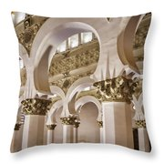 Synagogue Of St Mary The White Throw Pillow