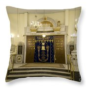 Synagogue, Thessaloniki Throw Pillow