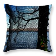 Synchronizing Body And Nature  Throw Pillow