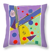 Syncopated Rhythm Throw Pillow