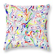 Synesthesia Throw Pillow
