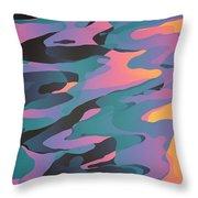 Synthetic Dreams Throw Pillow