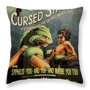 Syphilis Poster Throw Pillow