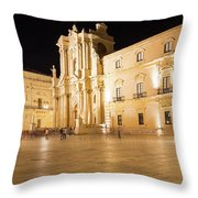 Syracuse, Sicily, Italy - Ortigia Downtown In Syracuse By Throw Pillow