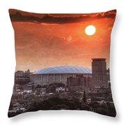 Syracuse Sunrise Over The Dome Throw Pillow