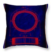 System Of Electrical Distribution Patent Drawing 1a Throw Pillow